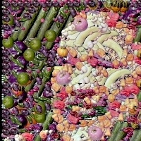 food images mosaic portrait